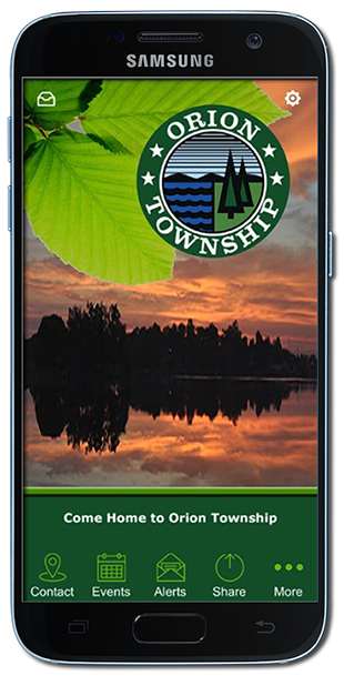 Orion Township's Mobile App by Racing Tortoise